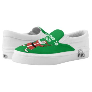Santa is Coming to Town Printed Shoes