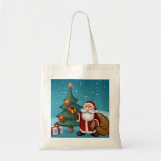 santa is coming tote bag