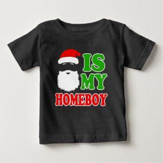 Santa is my Homeboy funny baby Christmas Tshirts