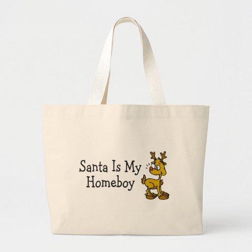 Santa Is My Homeboy Jumbo Tote Bag