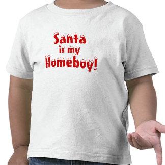 Santa is my homeboy tee shirts