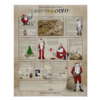 Santa is Odin Posters