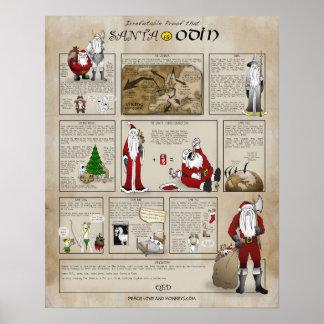 Santa is Odin Poster