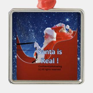 Santa is real! metal ornament