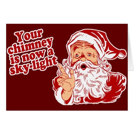 Santa Is Such A Fatty Card
