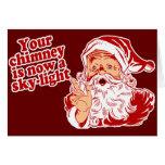 Santa Is Such A Fatty Greeting Card