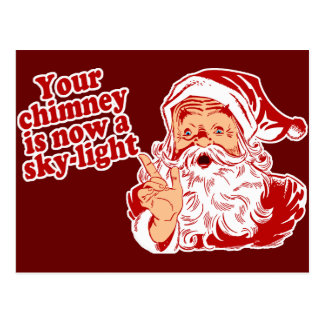 Santa Is Such A Fatty Postcard