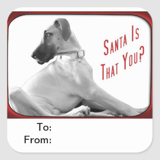Santa is that you square sticker