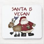 Santa Is Vegan Mouse Pad