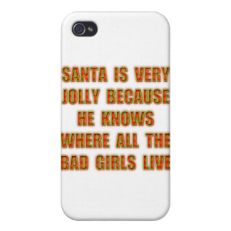 Santa Is Very Jolly Because He Knows Where All The iPhone 4 Case