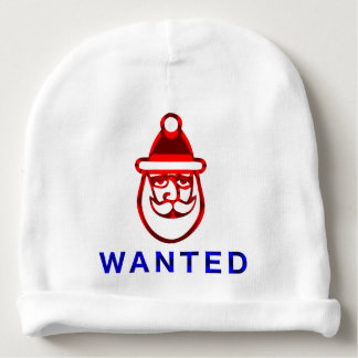 Santa Is Wanted Baby Beanie