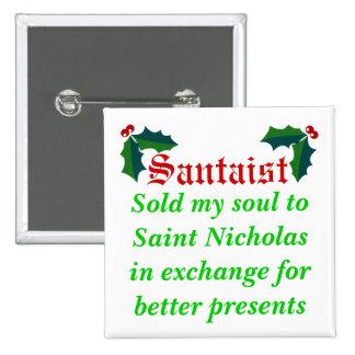 Santa-ist Pinback Button