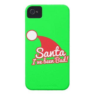 SANTA I've been BAD! Christmas funny design iPhone 4 Case-Mate Case