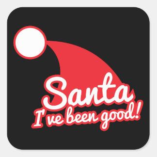 SANTA I've been GOOD! Christmas funny design Square Sticker