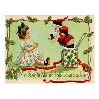Santa Jack-In-A-Box Postcards
