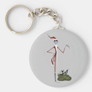 Santa Jack Skellington Keychain