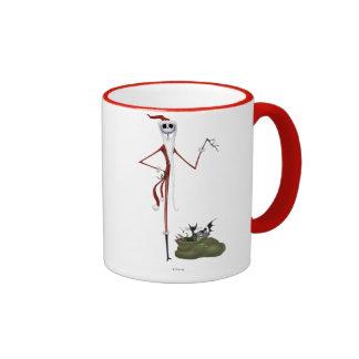 Santa Jack Skellington Ringer Coffee Mug