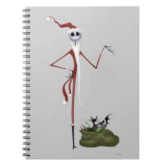 Santa Jack Skellington Spiral Note Book