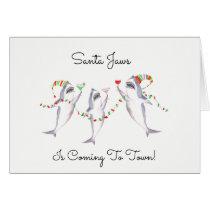 Santa Jaws Christmas Card