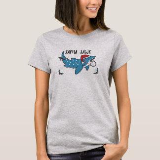 Santa Jaws Humour Funny T-Shirt