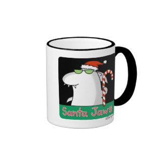 Santa Jaws Ringer Mug