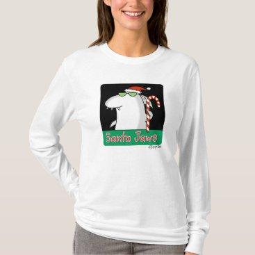 Christmas Themed Santa Jaws T-Shirt