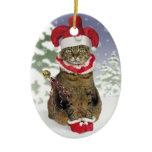 Santa Jester Cat Ornament