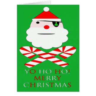 santa jolly roger greeting cards