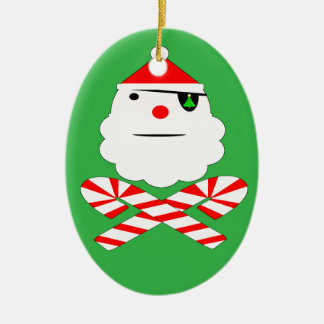 santa jolly roger ceramic ornament