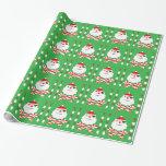 santa jolly roger gift wrap paper