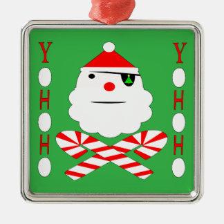 santa jolly roger metal ornament