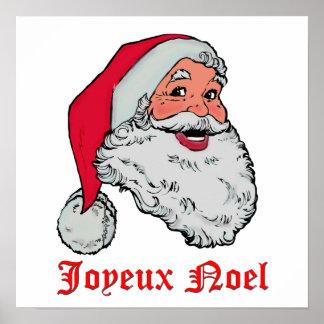 Santa Joyeux Noel Poster
