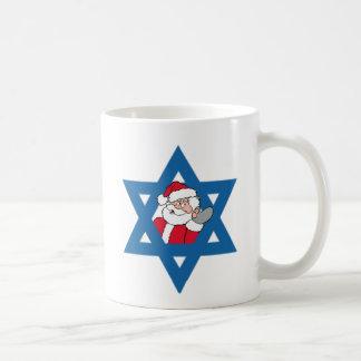 Santa judío taza básica blanca