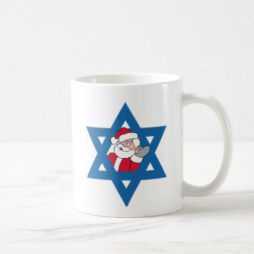 Santa judío tazas