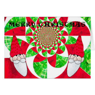 Santa Kaleidoscope in Stained Glass Card
