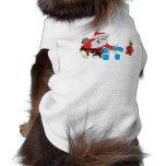 santa karate chipping ice pet t shirt