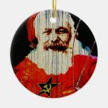 Santa Karl Double-Sided Ceramic Round Christmas Ornament