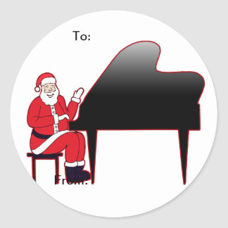 Santa Keys Classic Round Sticker