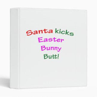 Santa Kicks Easter Bunny Butt! Binder