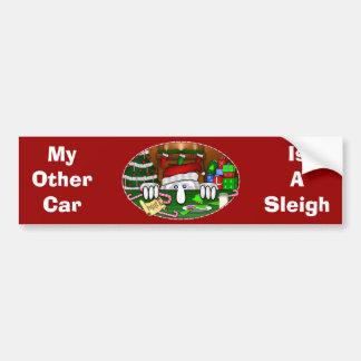 Santa Kilroy Bumper Sticker Car Bumper Sticker