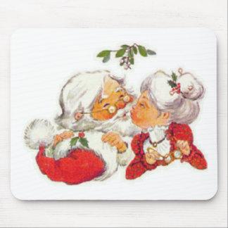 Santa Kissing Mrs Claus Mousepad