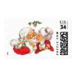 Santa Kissing Mrs Claus Postage