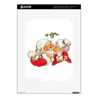 Santa Kissing Mrs Claus Skin For iPad 3