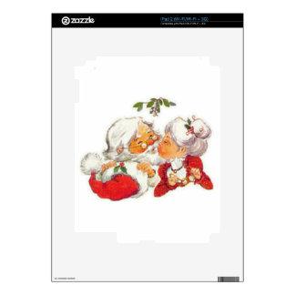 Santa Kissing Mrs Claus Skin For The iPad 2