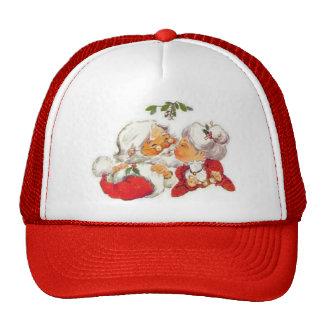 Santa Kissing Mrs Claus Trucker Hat