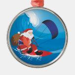 Santa Kitesurf Premium Ornament