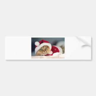Santa Kitty Bumper Sticker