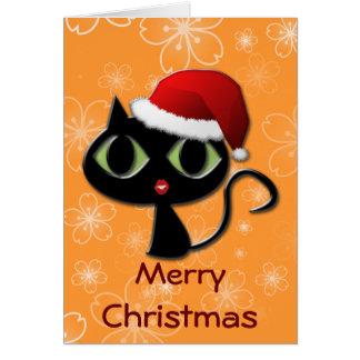 Santa kitty card