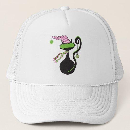 Santa Kitty Green Hat