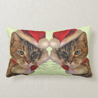 Santa Kitty Lumbar Pillow
